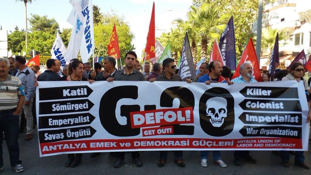 Emek ve Demokrasi Güçleri'nden G-20 protestosu