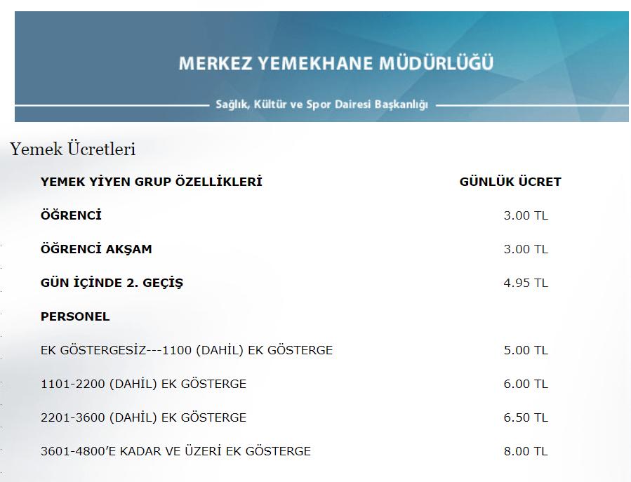 16 Eylül 2019'da yayınlanan fiyat listesi